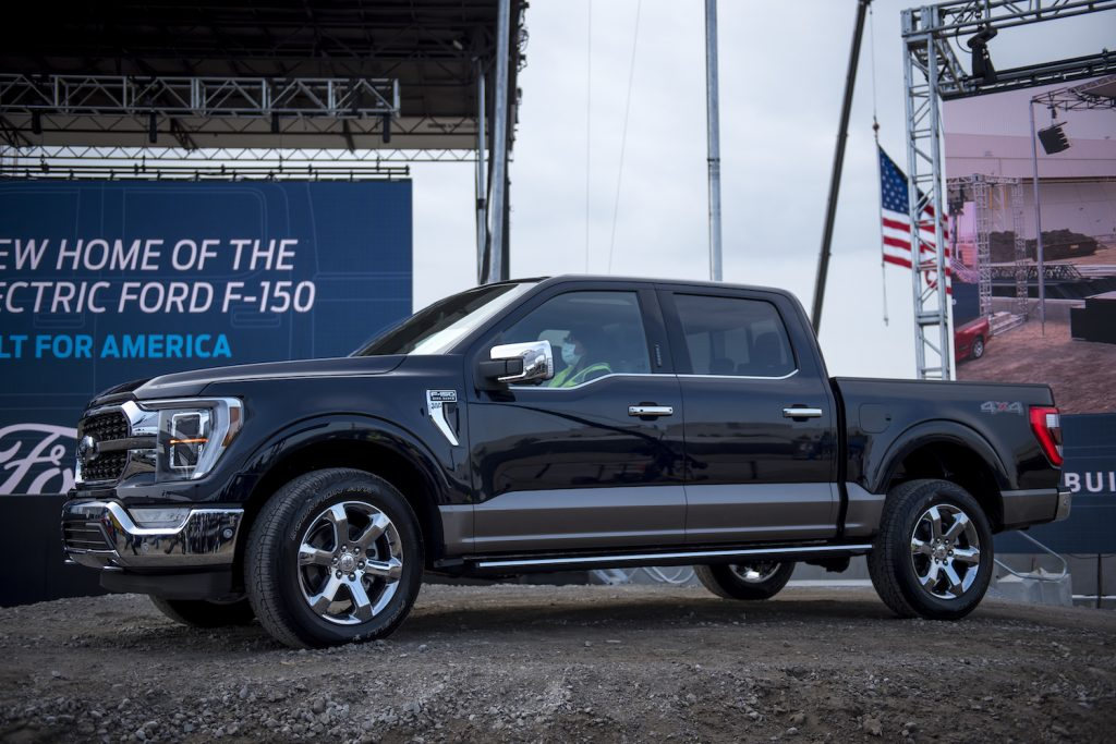 2021 Ford F-150 parked at an event