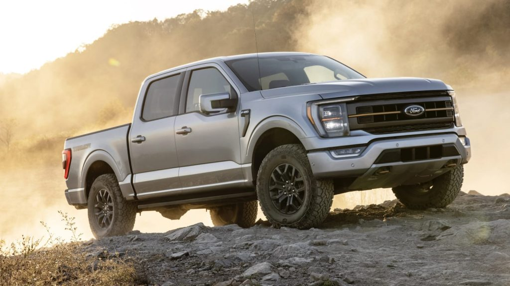The 2021 Ford F-150 Tremor off-roading