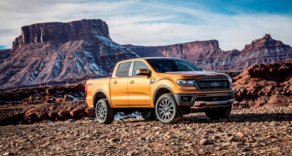 2021 Ford Ranger front 3/4 view