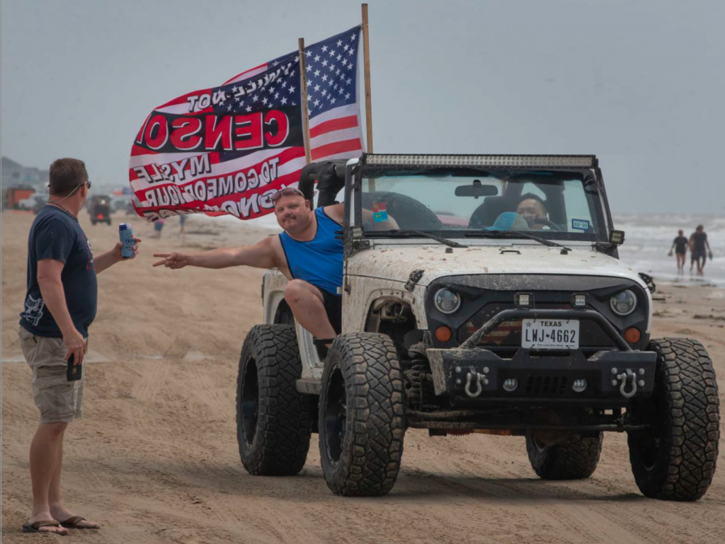 Go Topless Jeep event in Galveston, Texas