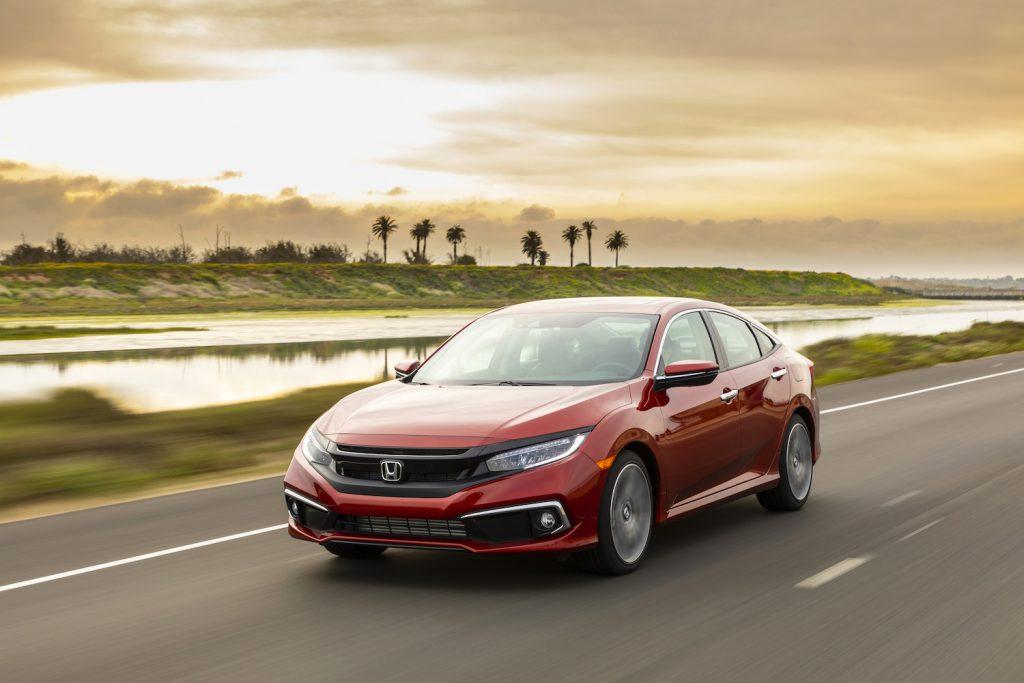 2021 Honda Civic in red