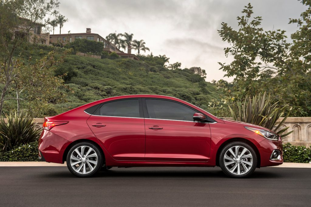 2021 Hyundai Accent in red