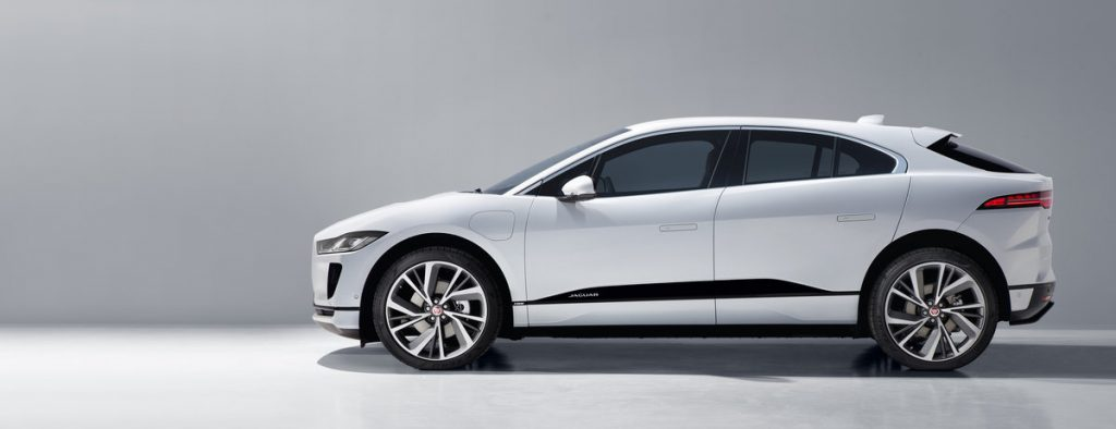 white sideview of Jaguar I-pace