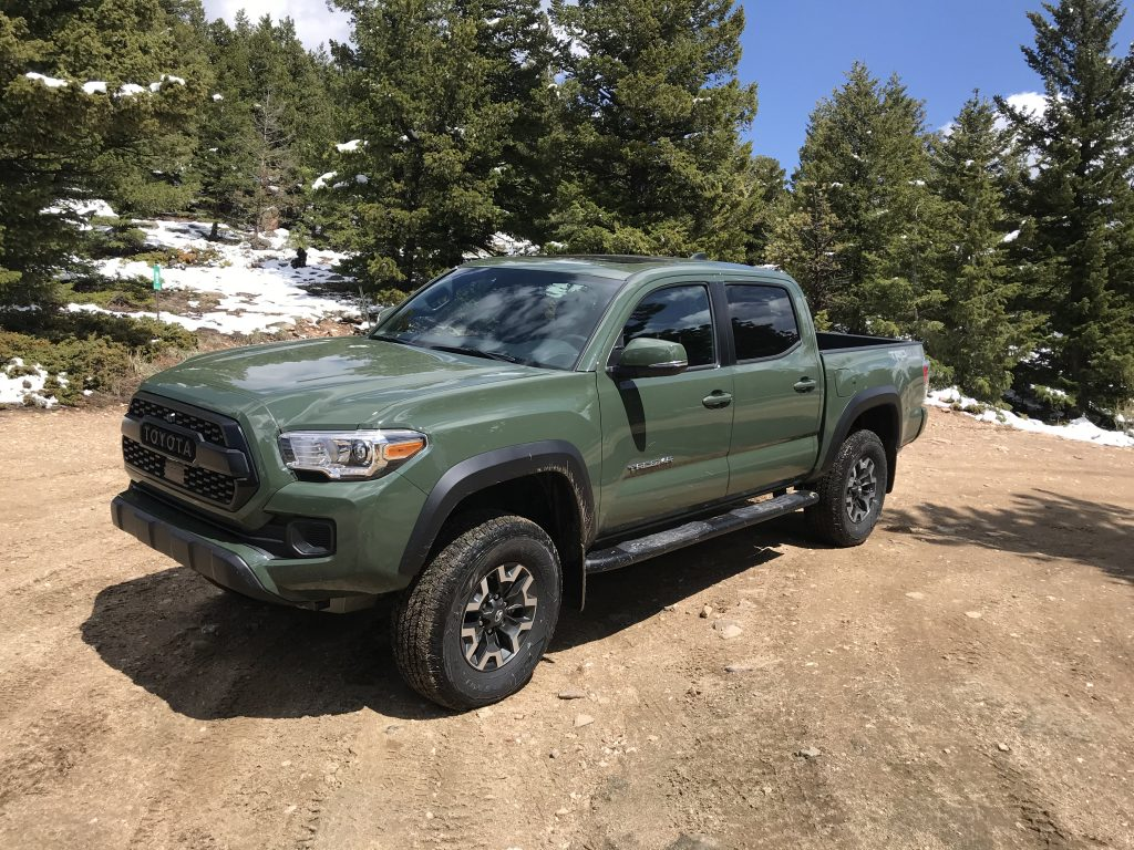 a front shot of the 2021 Toyota Tacoma TRD Off Road with TRD lift kit