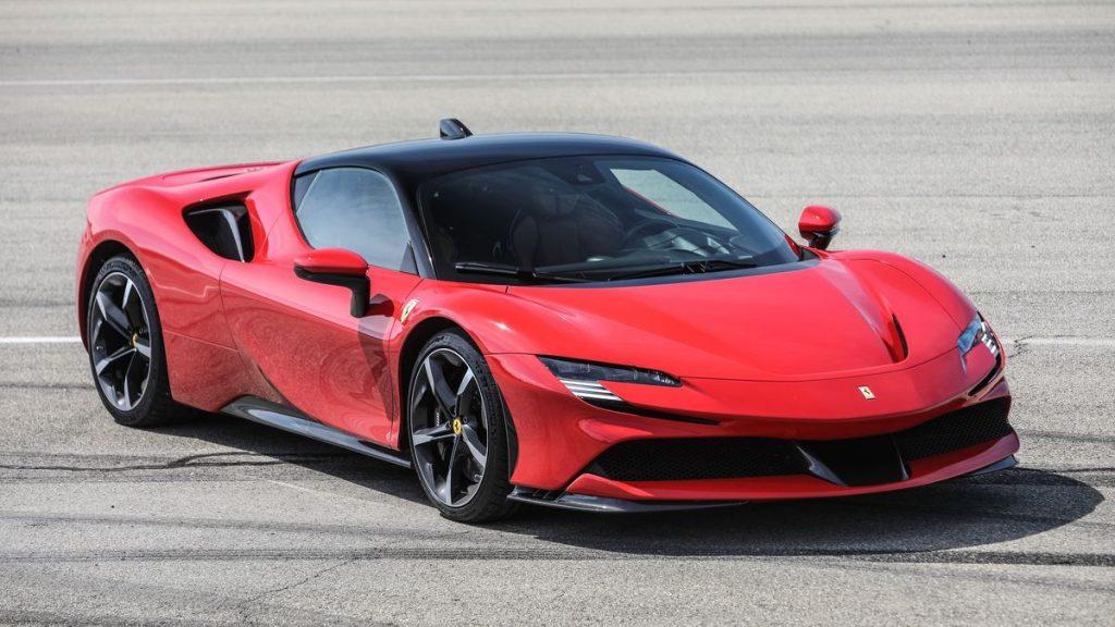 2021 Ferrari SF90 Stradale in red