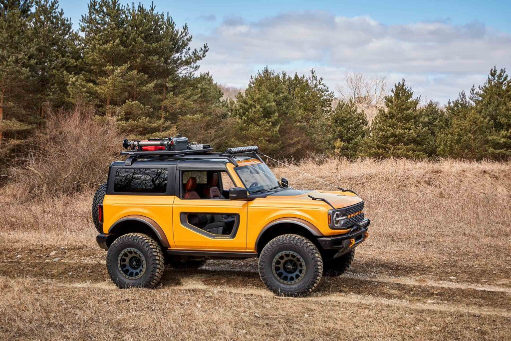 a yellow 2021 Ford Bronco SUV
