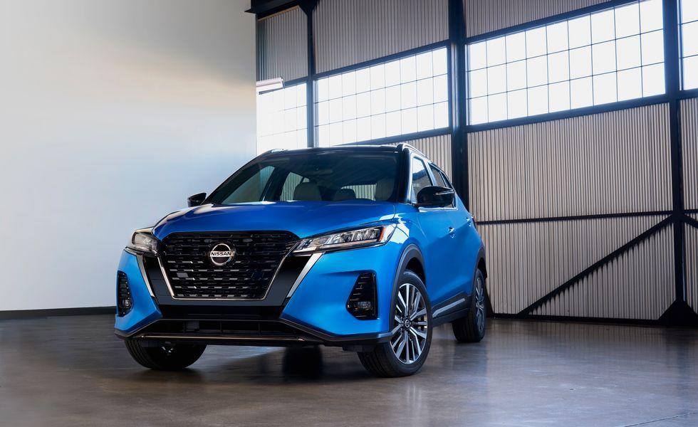 The 2021 Nissan Kicks on display.