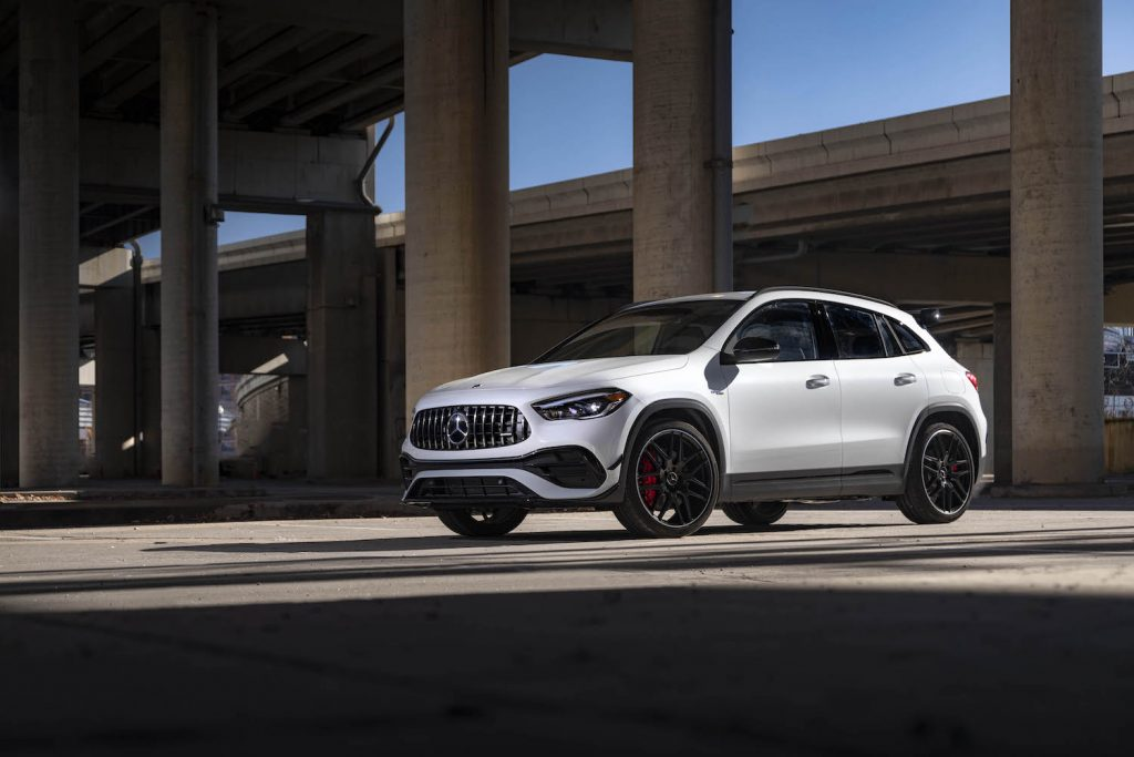 A white 2021 Mercedes-Benz GLA parked outdoors