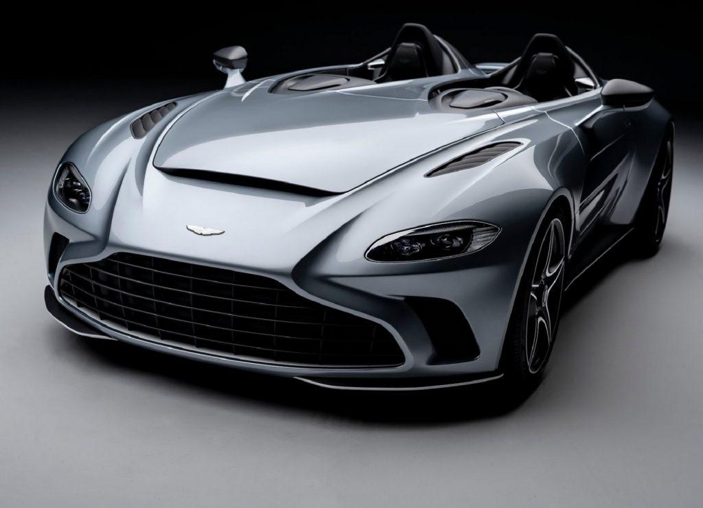 A gray 2022 Aston Martin V12 Speedster
