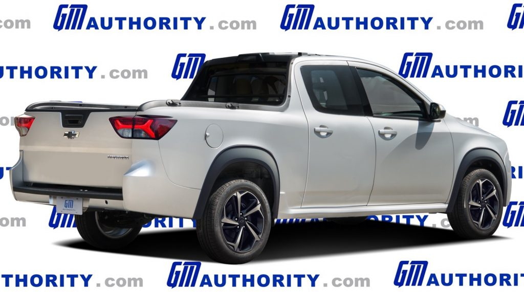 2022 Chevy Montana replacement speculation rear 3/4 view
