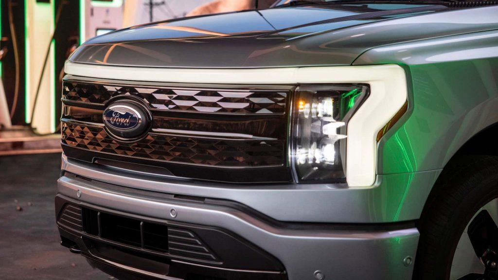 2022 Ford F-150 Lightning close up