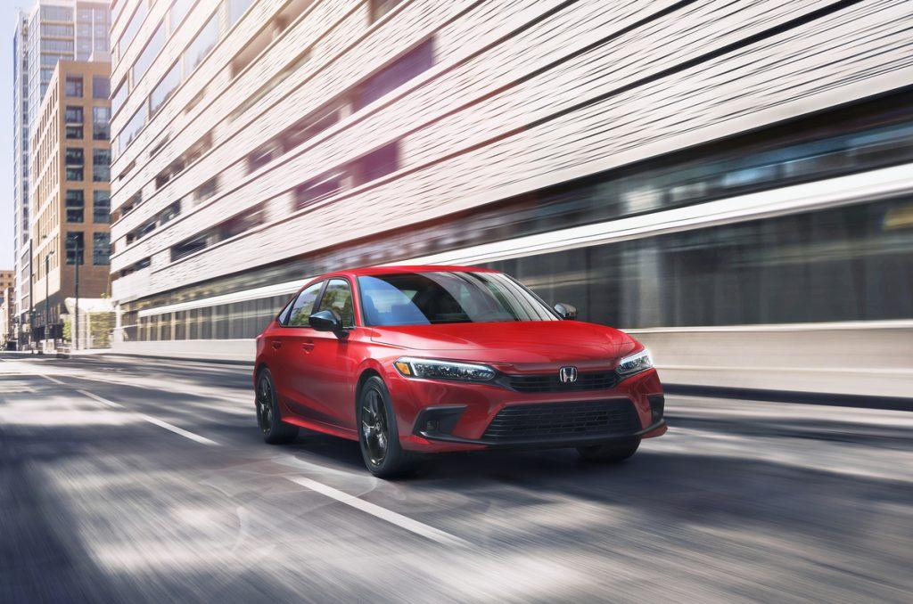 2022 Honda Civic Sedan Touring front shot