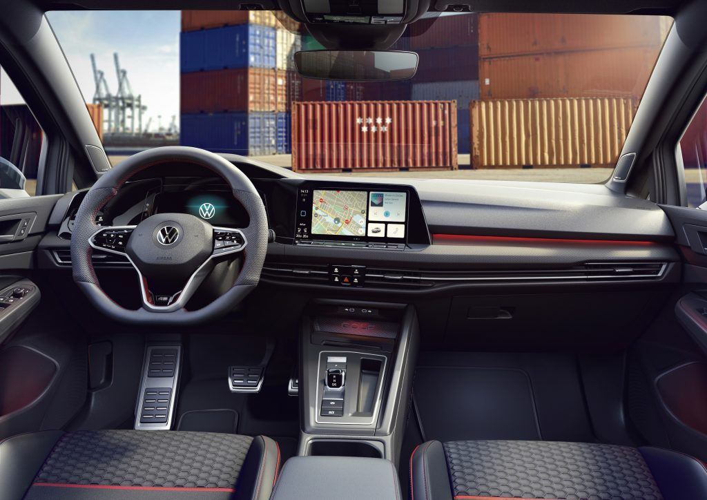 Interior view of the 2022 Volkswagen Golf GTI Clubsport 45 sedan