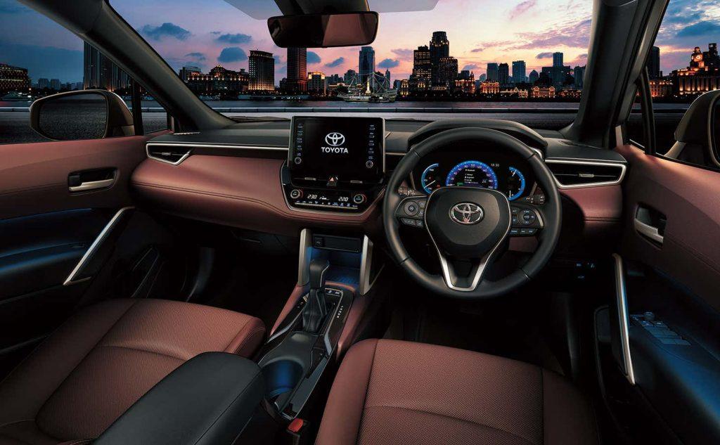 An interior shot of the 2022 Toyota Corolla Cross