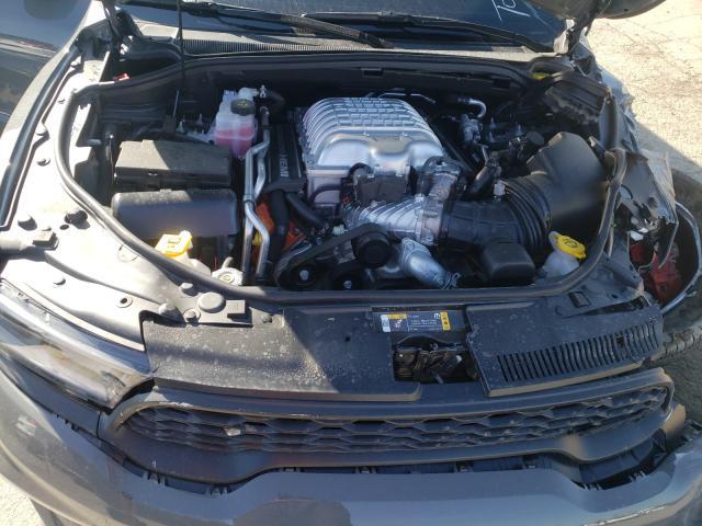 An image of a crashed Dodge Durango Hellcat at a Copart lot.