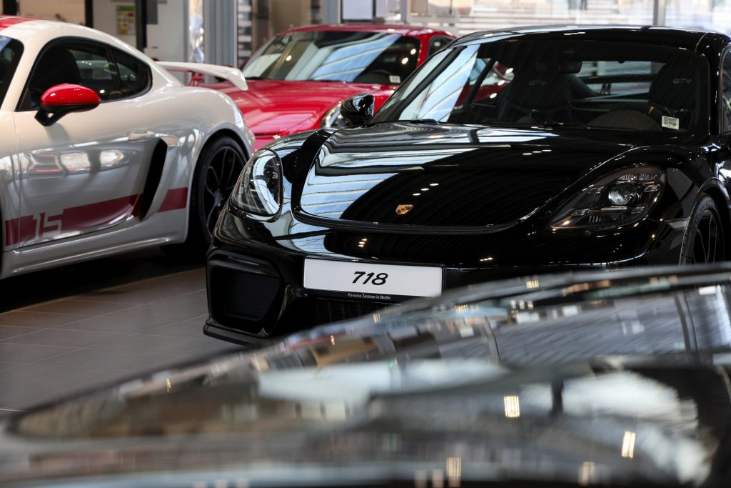 The 718 Cayman GT4 in the showroom, but is it the fastest Porsche?