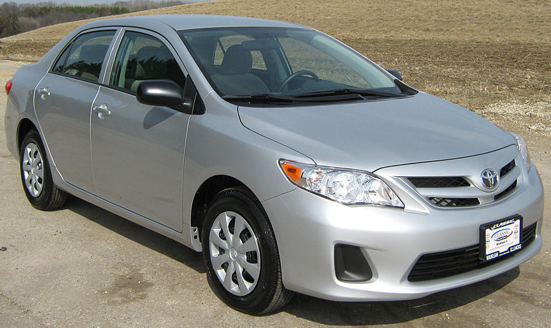 a silver used Toyota Corolla from the 2011 model year
