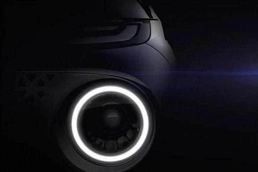 2022 Hyundai AX1 Teaser that shows a circular head light