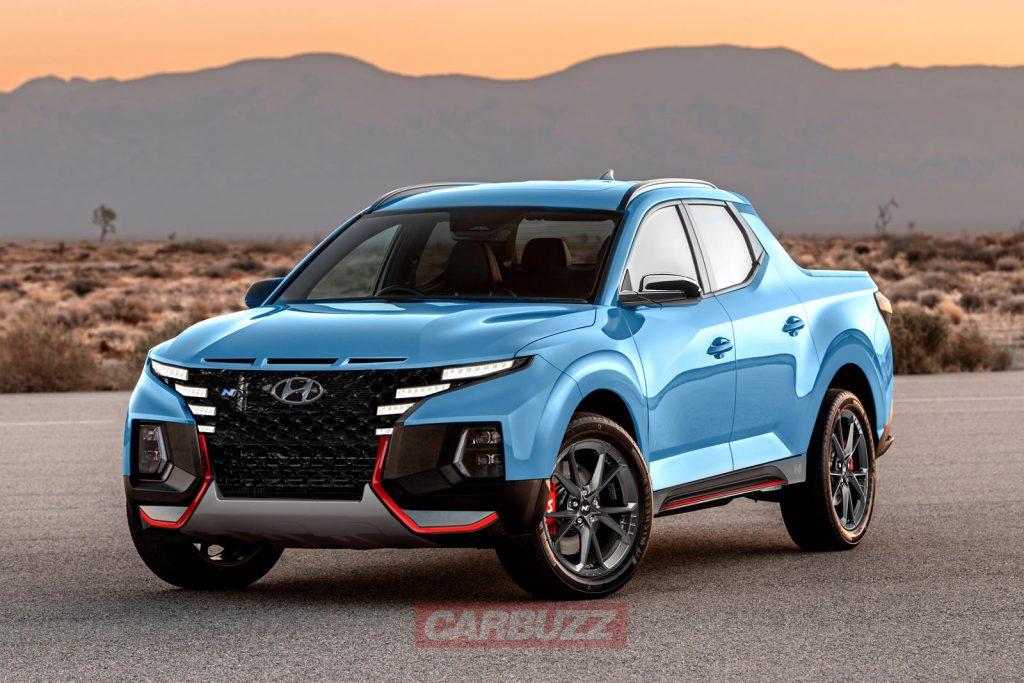 2022 Hyundai Santa Cruz N rendering showing upgraded tires and looks