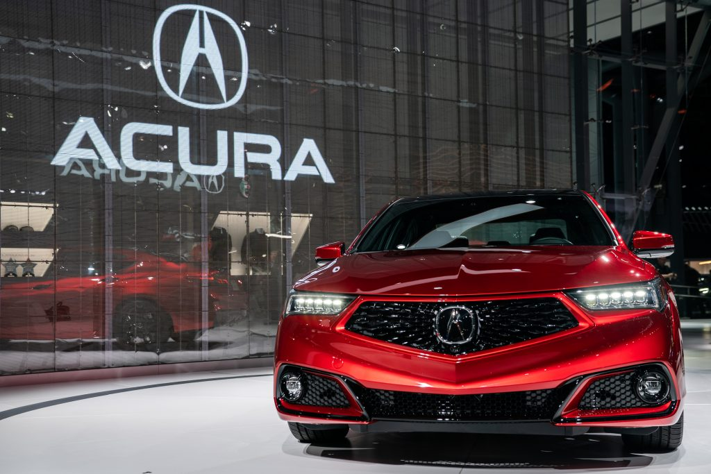 A Honda Motor Co. Acura TLX special edition sedan is displayed during the 2019 New York International Auto Show (NYIAS) in New York, U.S.