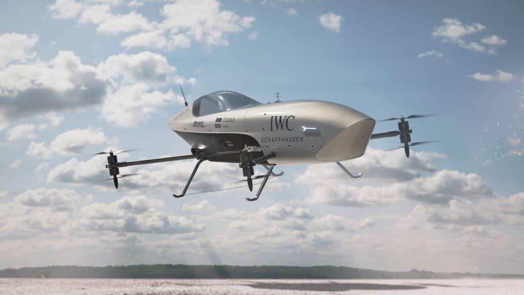 Airspeeder flying race car in the air