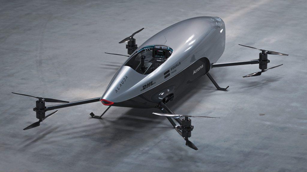 Airspeeder racer rear 3/4 view