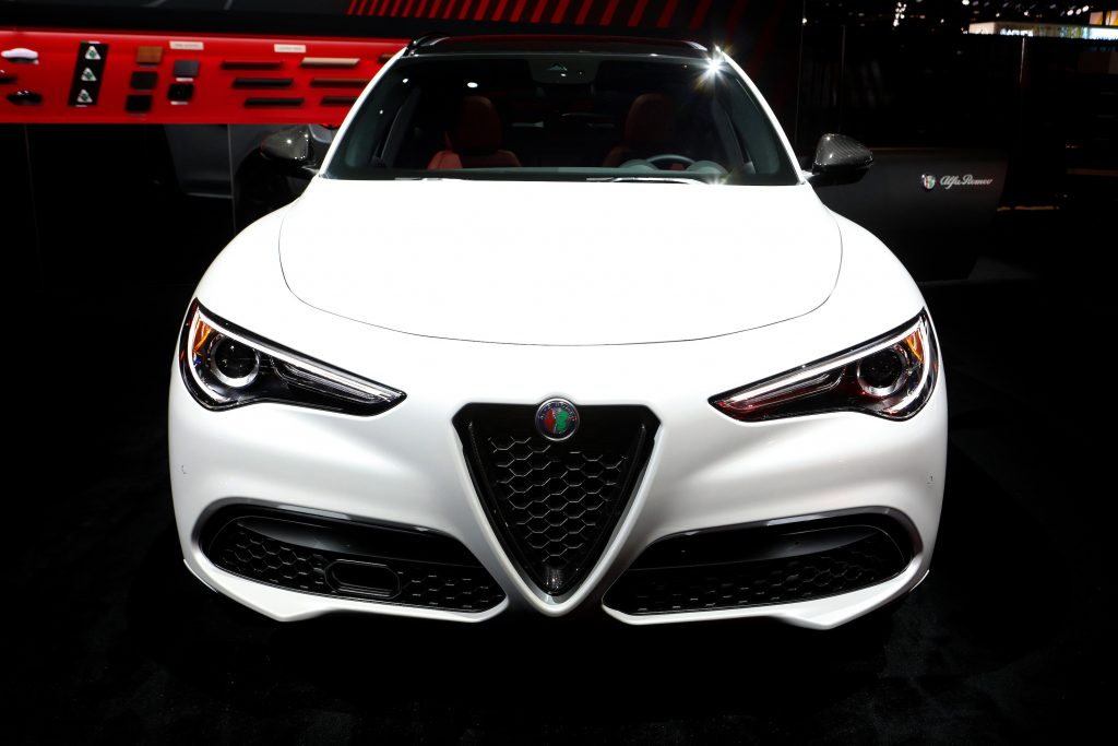 2020 Alfa Romeo Stelvio is on display at the 112th Annual Chicago Auto Show