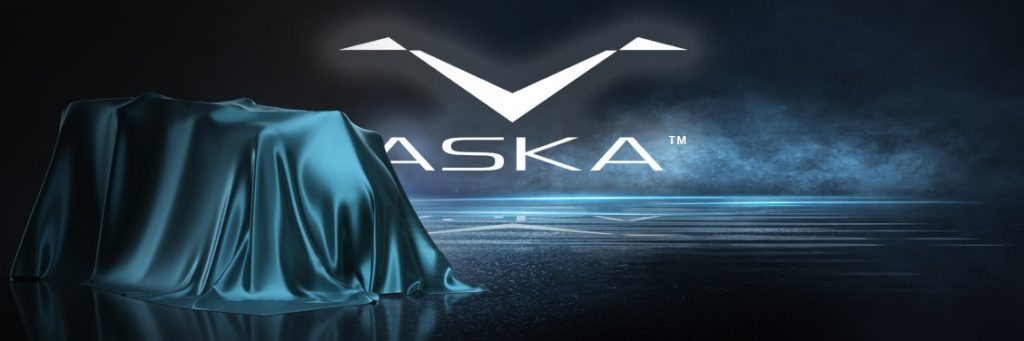 The Aska logo featuring the brand name and a pair of stylized wings