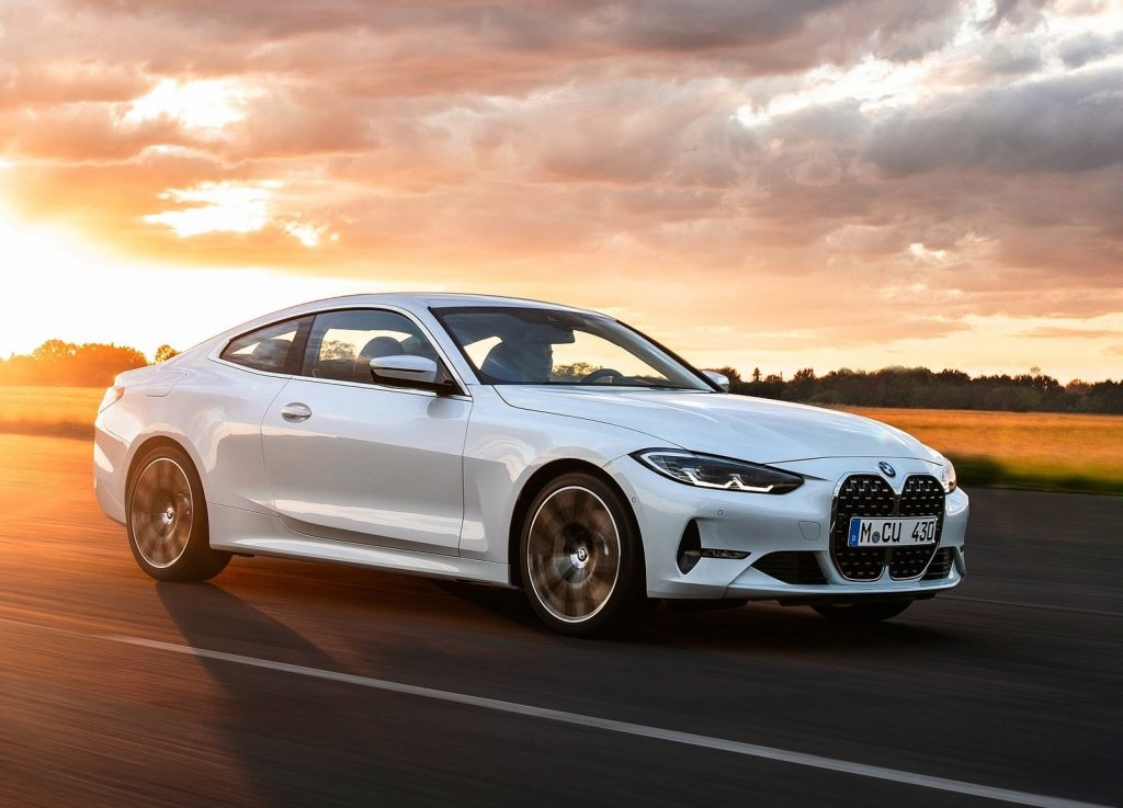 front shot of 2021 BMW 4 Series in white