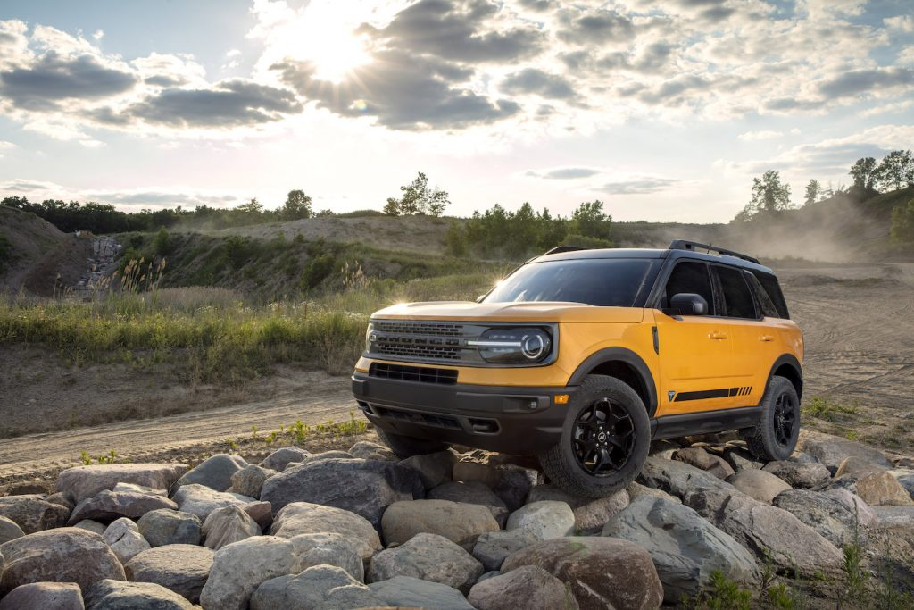Pictured is the 2021 Ford Bronco Sport, an IIHS Top Safety Pick+