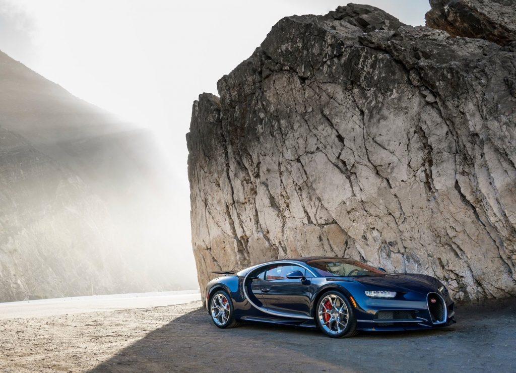 An image of a Bugatti Chiron parked outdoors.