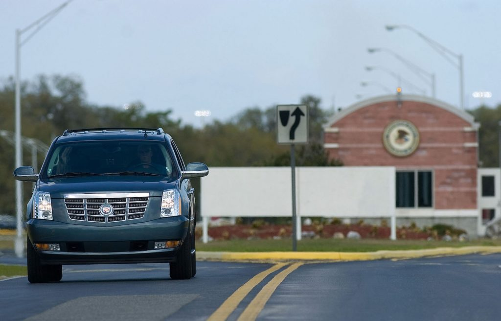 A Cadillac Escalade driving