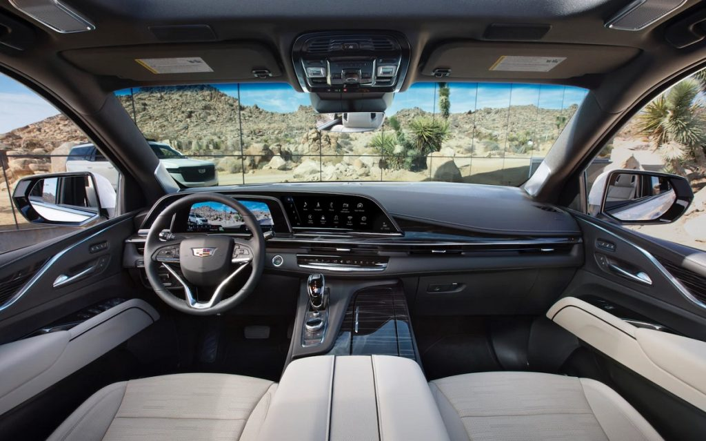 The interior of a 2021 Cadillac Escalade. The inside of the Escalade is it nice, but is it worth the extra money?