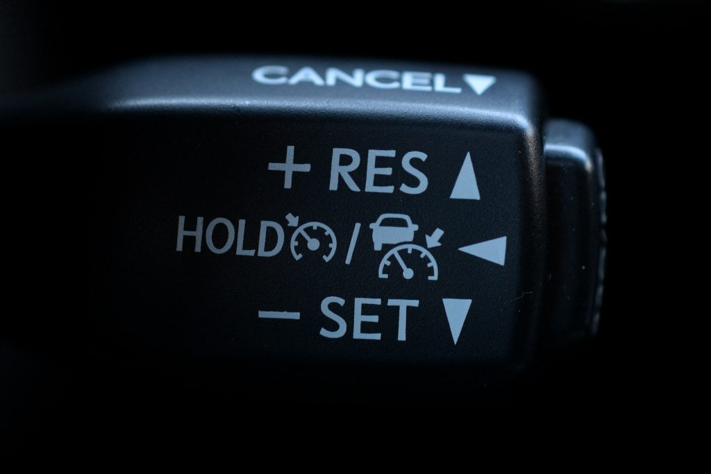 Cruise control stalk on the 2016 Lexus RX 350 SUV