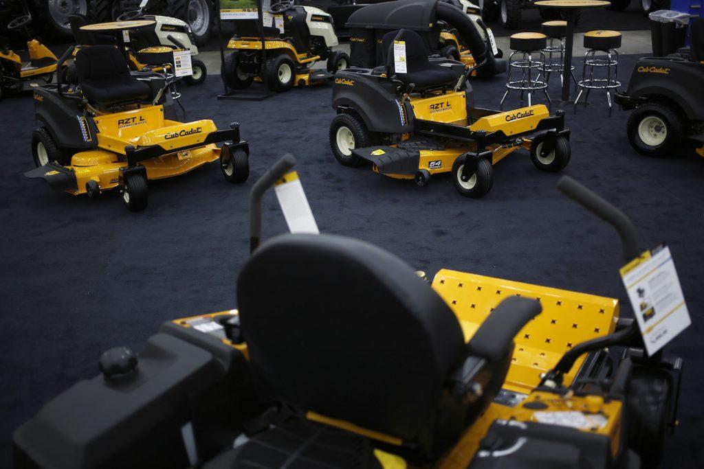 Cub Cadet zero turn mowers on display