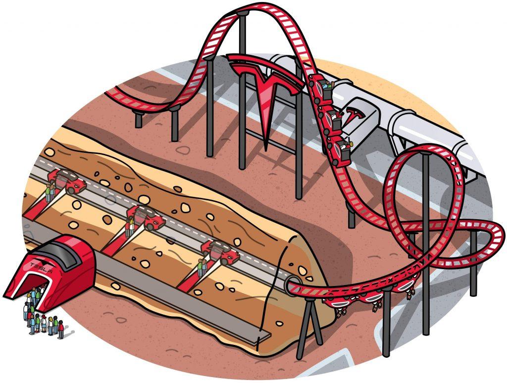 CyberLand underground roller coaster