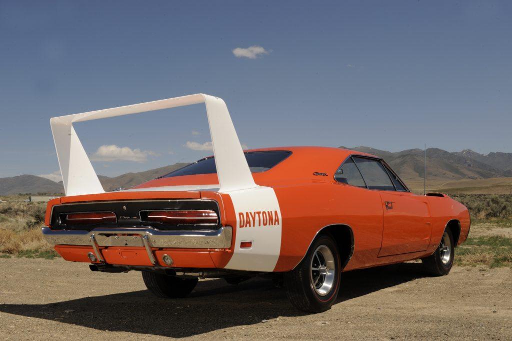 An orange Dodge Daytona