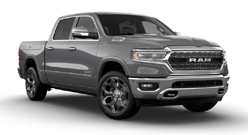 A 2021 Dodge Ram on display. The 2021 Dodge Ram received the IIHS award for safety.