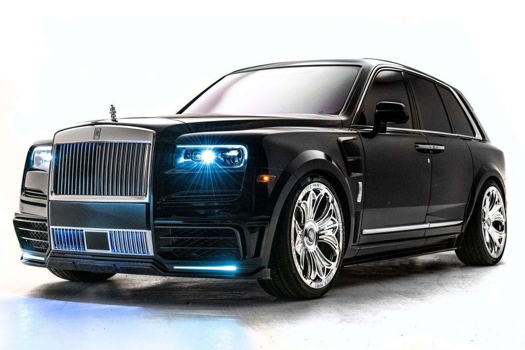 Drake's custom Rolls-Royce Cullinan against a white background