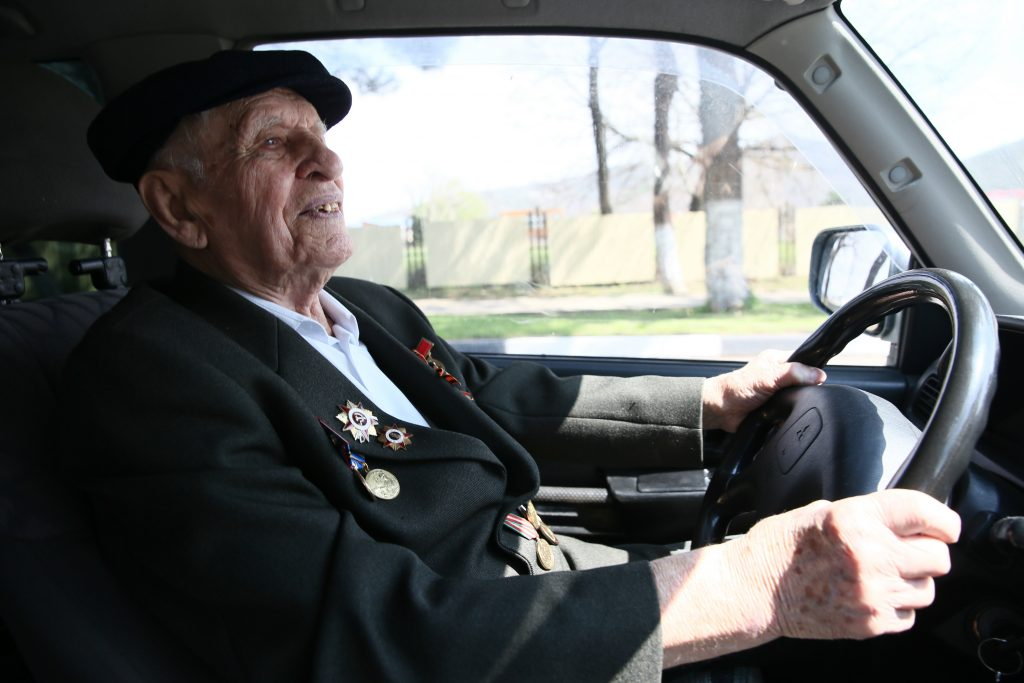 WWII veteran Ivan Kurbakov, 100, drives a car in the village of Arkhipo-Osipovka, 42km southeast of the Black Sea resort city of Gelendzhik. A participant in the Battle of Sevastopol, he served with the 79th Naval Infantry Brigade new study shows dementia can be predicted by driving habits