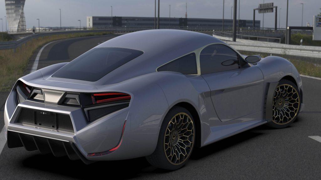 Electra Quds Rise sports car rear