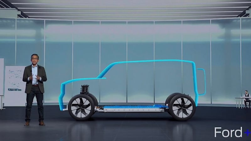 The 2022 Electric Ford Bronco teaser, possibly the outline of the new Ford Bronco Warthog