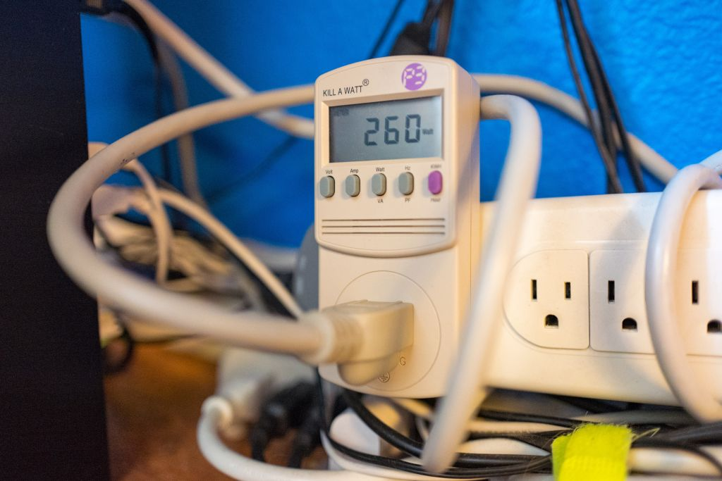 killowatt usage meter