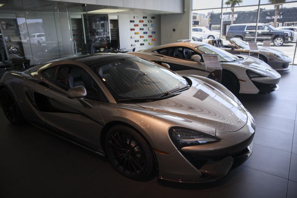 exotic car dealership showroom