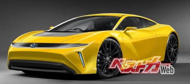 Future hydrogen-powered combustion engine Celica