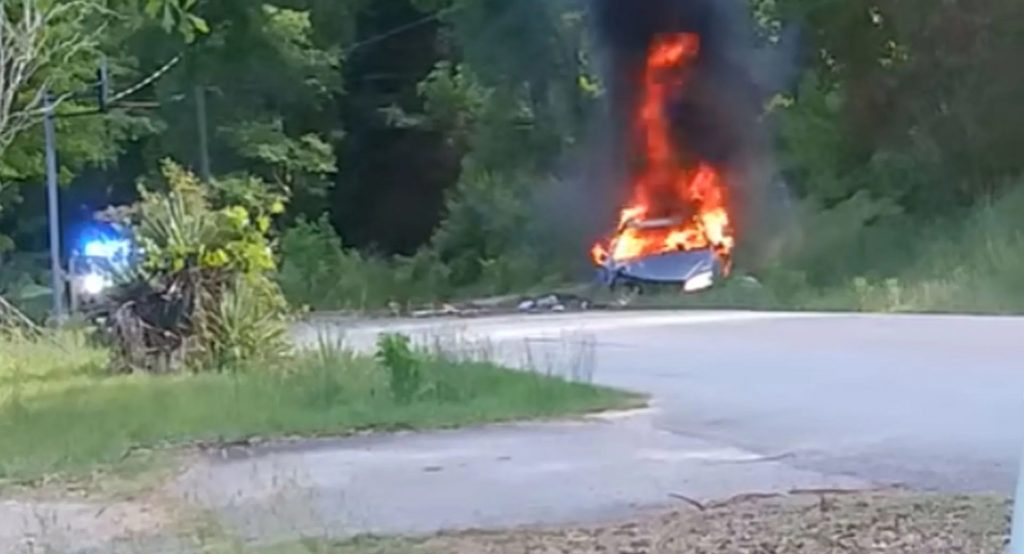 police chase ends in explosion due to fuel horading