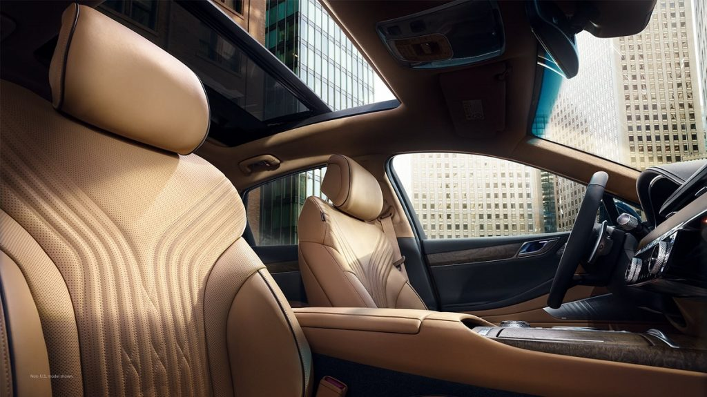 The interior of a 2021 Genesis G80.