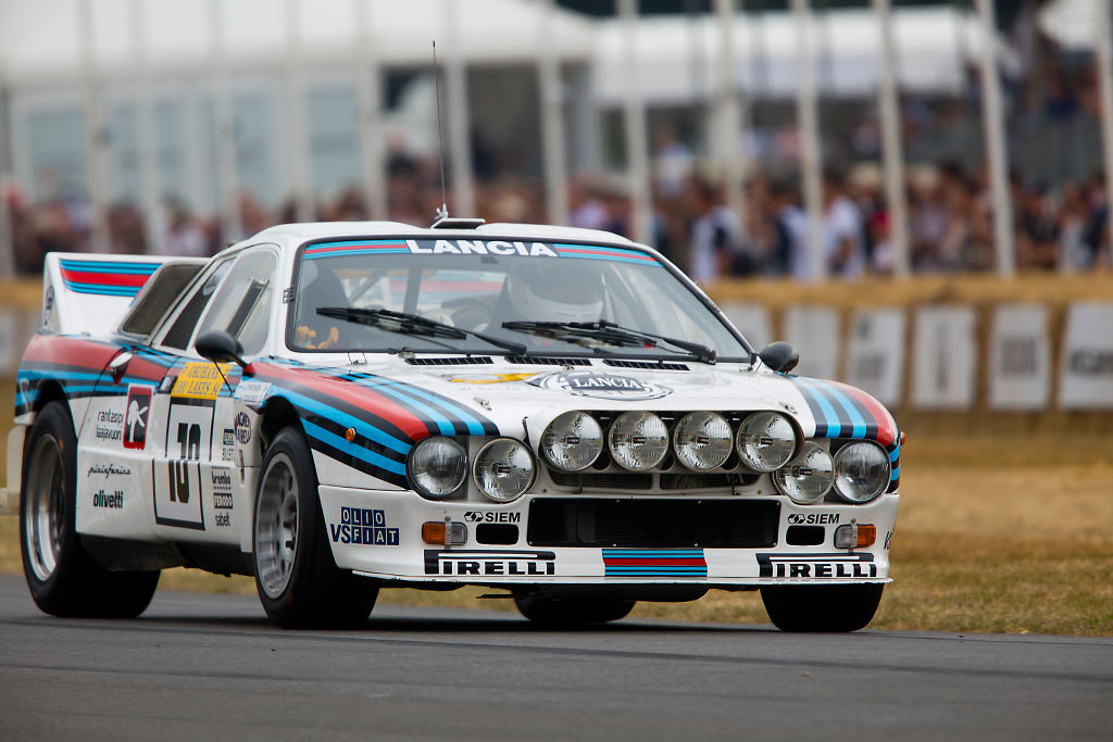 The 1983 Lancia 037 with Martini's white red and blue livery