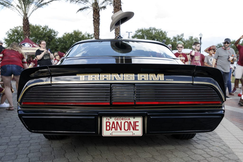 A rear view of Burt Reynold's Trans AM that was used in the movie, Smokey and the Bandit |  Don Juan Moore/Getty Images