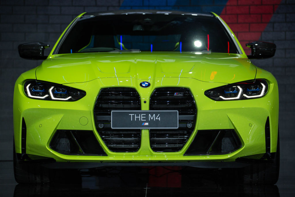 The front of the BMW M4 Coupe